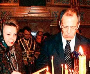 Сергей Лавров и его жена Мария Александровна Лаврова